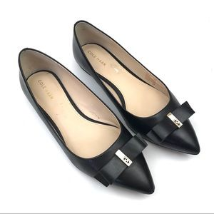 Cole Haan Elsie Bow Skimmer pointed toe flats